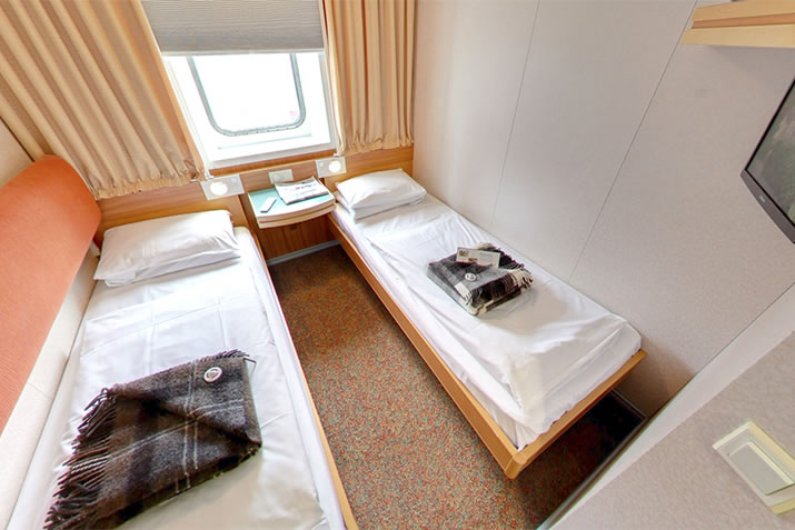 Premium-Outer-2-berth-cabin-on-board-NorthLink-Ferries-ships-to-Shetland-and-Orkney